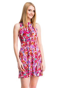 Платье с геометрическим рисунком Mondigo со скидкой