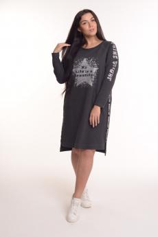Трикотажное платье свободного кроя Modellini