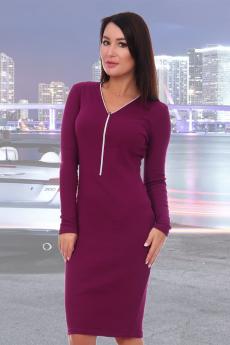 Платье сливового цвета Натали со скидкой